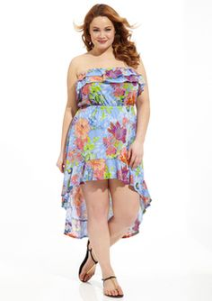 Cute plus Size Clothing Hi Low Dresses, Plus Size Dresses, Plus Size Outfits, Plus Size Fashionista, Plus Size Fashion Blog, Designer Collection, Cool Outfits, Floral Prints, My Style