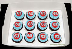 Class of 63 high school reunion cupcakes by Simply Sweets, via Flickr