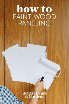 While painting paneling isn't hard to do, proper preparation is important to allow the paint to adhere well. Without taking appropriate measures, you could end up with an uneven paint job that you'll have to redo later on. Follow our step-by-step instructions for how to paint wood paneling, and get a new look in no time. #howtopaintwoodpaneling #upgradewoodpaneling #woodpanelingmakeover #paintedwoodpaneling #bhg Wood Paneling Makeover, Painting Wood Paneling, Take You Home, Bettering Myself, Home Decor Trends, Step By Step Instructions, Home Accessories, Diy Ideas, Wall Art