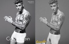 PHOTOSHOP VS JUSTIN BIEBER  #photoshop #justinbieber #calvinklein
