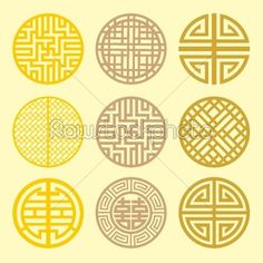 Abstract Art geometric grid | Round grid Symbol sets. Geometric Pattern Design. Korean - Background ...