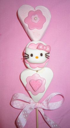 Paleta de bombon de Hello Kitty