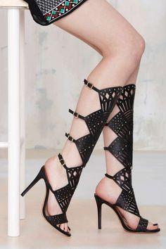 Schutz Brasiliania Knee-High Leather Heel - Shoes | Heels