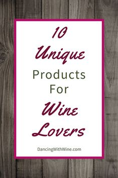 Wine products everywhere. In addition to the wine glasses, bottle stoppers, corkscrews, and storage options, you are bound to find a slew of unique wine products available for purchase. Check out these ten unique wine products. Gifts For Wine Lovers, Gift For Lover, Wine Gifts, Wine Leaves, Wine Sale, Types Of Wine, Wine Decor, Sangria Recipes, Bottle Stoppers