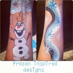 Frozen Party Facepainting  Instagram francesfacepainting