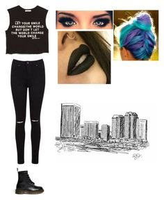 """""""Untitled #36"""" by verootjuhh ❤ liked on Polyvore featuring MANGO, Miss Selfridge and Dr. Martens"""