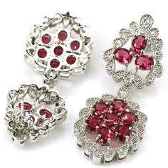 Sterling Silver Pink Raspberry Rhodolite Garnet Drop Earrings