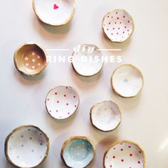 DIY ring dishes with air dry clay