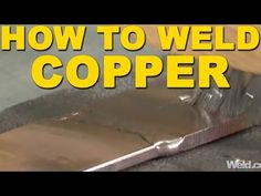 Explore the weldability of copper, brass and bronze and learn tips and tricks for welding these materials using various methods like soldering and brazing. Welding Works, Welding Classes, Welding Tips, Welding Process, Welding Ideas, Robotic Welding, Mig Welding, Welding Art, Welding Table