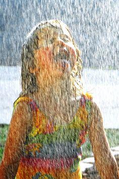 sprinkler time! #AdditionElleOntheRoad