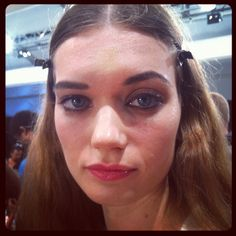 Look at these fierce eyes backstage at the Tracy Reese fashion show! Gorgois! #NYFW XXX