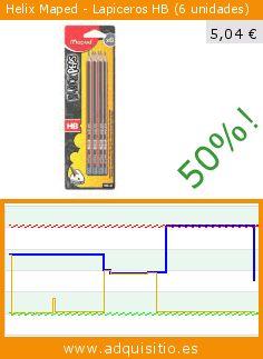 Helix Maped - Lapiceros HB (6 unidades) (Productos de oficina). Baja 50.393700787402%! Precio actual 5,04 €, el precio anterior fue de 10,16 €. https://www.adquisitio.es/helix-oxford/helix-maped-lapiceros-hb