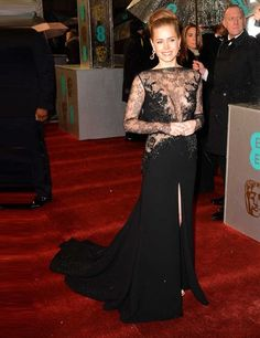 Amy Adams- BAFTA red carpet  (Elie Saab gown and Faberge jewellery)