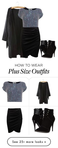 """""""Untitled #467"""" by lejla-sabanovic on Polyvore featuring C Label and Coast Look Plus Size, Curvy Plus Size, Plus Size Women, Curvy Girl Outfits, Plus Size Outfits, Cute Outfits, Curvy Girl Fashion, Plus Size Fashion, Outfits Blanco"""