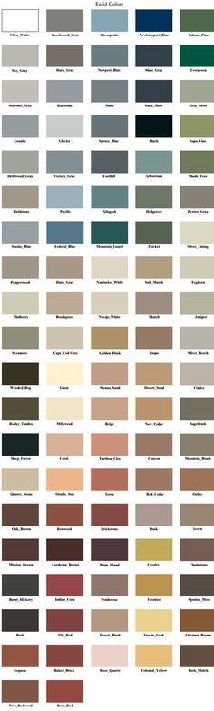 colores de tejas de cedro sólido