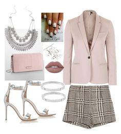 """""""Think Pink"""" by mychicstyle1 on Polyvore featuring Topshop, Zara, Gianvito Rossi, Calvin Klein, Lime Crime and Michael Kors"""