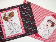 MUG  RUG  NURSES  Quilted Snack Mat Coaster Place by SewNSewSister #coaster #placemat #funnysaying