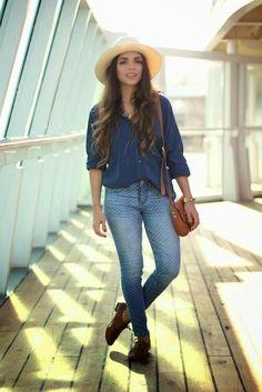 Look: Jeans com Poá | Looks Inspiração