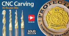 Solid Carbide CNC 2D and 3D Carving Tapered Ball Nose (Conical Ball) & Flat Bottom (End Mill) ZrN Coated Router Bits