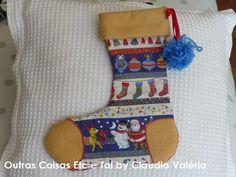 Botinha de Natal, presente especial para a Manuela, uma linda menina...minha vizinha!!! Outras Coisas, Etc e Tal