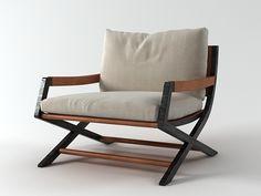 Flexform Emily armchair modello 3D |  N/A