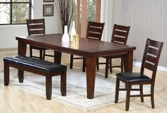 6pc Dining Table & Chairs Set with Ladder Back Dark Oak Finish by Coaster Home Furnishings, http://www.amazon.com/dp/B002X3JLIY/ref=cm_sw_r_pi_dp_48ozrb0MC28YT
