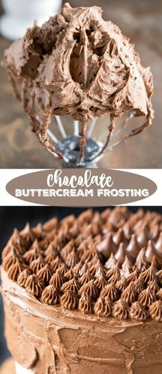 How to make chocolate frosting the easy way! This easy chocolate buttercream frosting recipe is silky, chocolate perfection! Made with cocoa powder, this not too sweet frosting is perfect for any cake or cupcake! Yummy Recipes, Delicious Desserts, Healthy Desserts, Cupcake Frosting, Cupcake Cakes, Best Buttercream Frosting, Homemade Frosting, Cupcake Icing Recipe, Wedding Cake Frosting