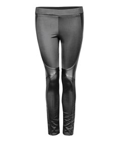 Look at this Black Moto Wrap Leggings on #zulily today!