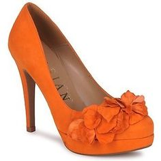 Orange with flowers heels/I want these i can not tell what kind they are please help!!!