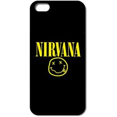 Nirvana iphone 5/5s case protector found on Polyvore