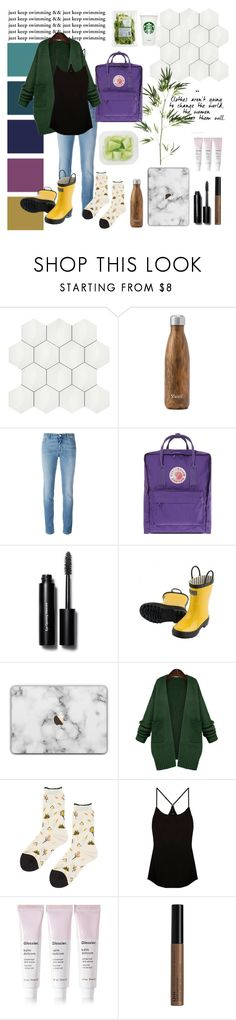 """""""just keep swimming"""" by rubycstrickland ❤ liked on Polyvore featuring SomerTile, West Elm, Givenchy, Fjällräven, Bobbi Brown Cosmetics, WithChic, Hansel from Basel, Cosabella, Glossier and NYX"""