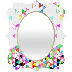 Fimbis Falling Into Place Quatrefoil Mirror #neon #triangles #bedroom