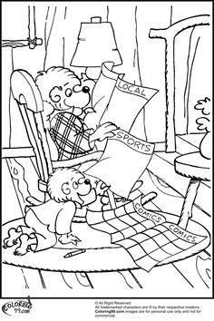 Berenstain Bears Coloring Pages 2 Photo Album ...