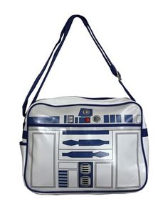 Get your geek on with this brilliant retro messenger bag which features an R2-D2 style design. Across the front and back, this bag looks like the outer shell of one of the most iconic androids in movie history. Officially licensed.