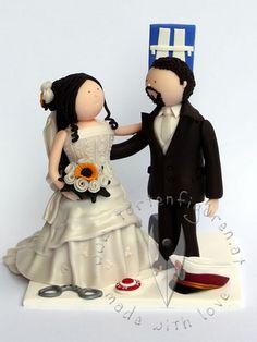 Brautpaar fr die Hochzeitstorte  Tortenfigur fr die