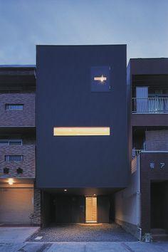 重量鉄骨造の家|黒い家|キャンチ|狭小地|注文住宅・自由設計・建築家と建てる家|アーキッシュギャラリー(東京・名古屋・大阪)