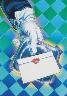 #80s #illustration #retro Retro Art, Vintage Art, 1980s Art, Paper Moon, Retro Images, Retro Futuristic, Retro Illustration, Airbrush Art, Photo Wall Collage