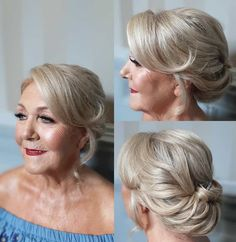 30 Gorgeous Mother of the Bride Hairstyles for 2020 - Hair Adviser Mother Of The Bride Hair Short, Mother Of The Groom Hairstyles, Mom Hairstyles, Wedding Hairstyles, Mother Of Bride Makeup, Mother Bride, Hairstyle Ideas, Short Thin Hair, Short Hair Updo