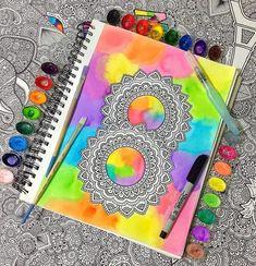 Mandala Art, Mandala Design, Diana Martinez, Dibujos Zentangle Art, School Notes, Doodle Art, Design Art, Art Ideas, Doodles
