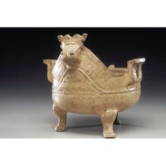 Asian Art Museum Online Collection Tripod bowl (yi) Place of Origin: China, Zhejiang province Historical Period: Warring States Period (approx. 480-221 BCE) Materials: Glazed high fired ceramic Dimensions: H. 5 7/8 in x W. 6 3/4 in x D. 6 1/4 in, H 14.9 cm x W. 17.1 cm x D. 15.9 cm Credit Line: The Avery Brundage Collection Department: Chinese Art Collection: Ceramics Object Number: B60P225 On Display: Yes Location: Gallery 14 Warring States Period, Asian Art Museum, Chinese Ceramics, Online Collections, Chinese Art, White Ceramics, Lion Sculpture, Objects