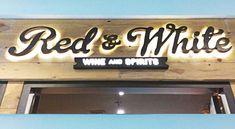 Makassar, White Wine, Margarita, Red And White, Neon Signs, Led, Interior, Prints, Home Decor