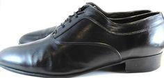 Mario Bruni Men Leather Oxford Shoes size 10 M Black.  MMM 61 #MarioBruni #Oxfords