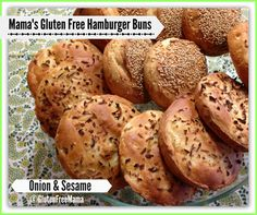Gluten Free Mama's Guest Post for Mama's Basic Hamburger Bun ~ Dairy Free over at @Michelle / My Gluten-free Kitchen     I made the basic recipe into Gluten-free Onion and Sesame Hamburger Buns