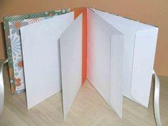 Tutorial to create an envelope book mini album Envelope Scrapbook, Envelope Book, Mini Scrapbook Albums, Scrapbook Paper, Scrapbook Templates, Scrapbooking Ideas, Scrapbook Layouts, Envelope System, Baby Scrapbook