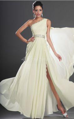 A-line One Shoulder Long Ivory Bridesmaid Dresses 4bridesmaids.com.au