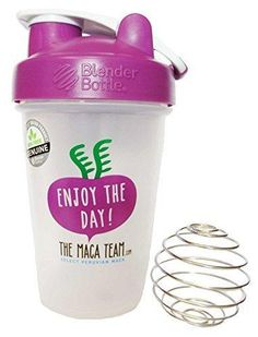 Blender Bottle Classic Loop Top 20 Oz. With Stainless Shaker Ball - 100% BPA Free - New Easy Grip Design- Special Edition - Enjoy the Day!