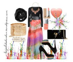 """""""Rainbow Hijab Outfit"""" by le-hijab-de-doudou ❤ liked on Polyvore"""