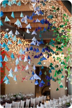 Love these garland/backdrop ideas. Up close, they're so easy and simple, but they make such an impact from afar.