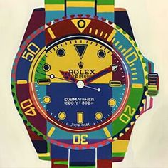 Rolex submariner pop art Rolex Submariner, Pop Art, Glass Art, Art Photography, Wall Art, Abstract, Cool Stuff, Canvas, Oyster Perpetual