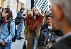 gorgeous coat plus jeans